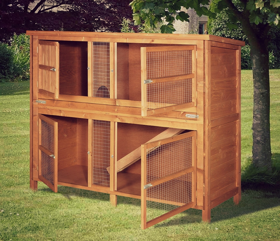 Home and roost 5ft chartwell double luxury rabbit hutch for 5 foot rabbit hutch