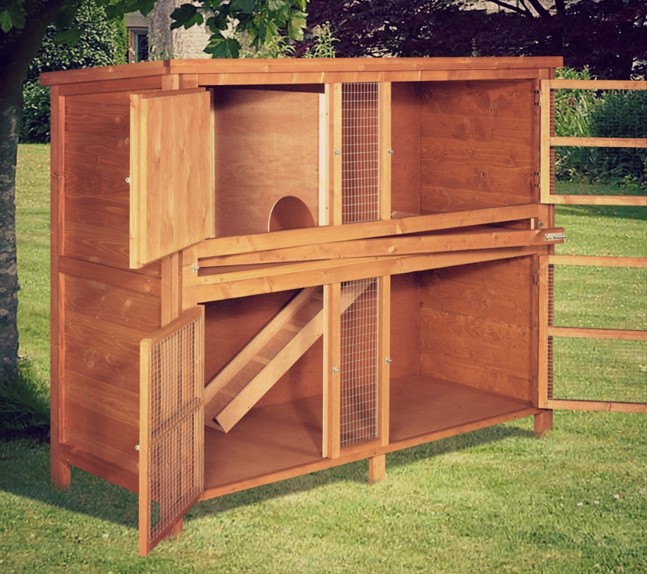 Chartwell double hutch 04 for 5 foot rabbit hutch