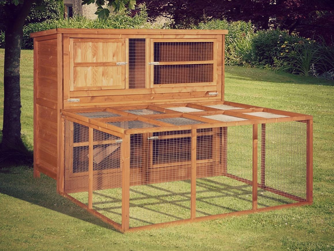Home And Roost Deluxe Rabbit Hutches Luxury Rabbit Hutch
