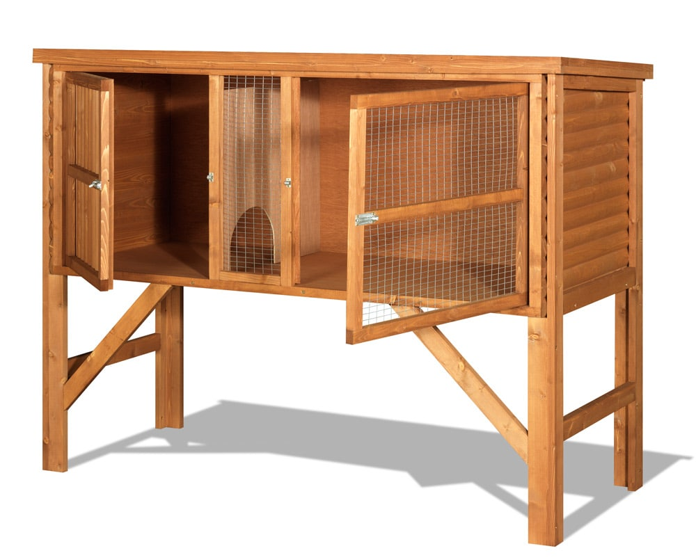 Pin rabbit hutches on pinterest for What is a rabbit hutch