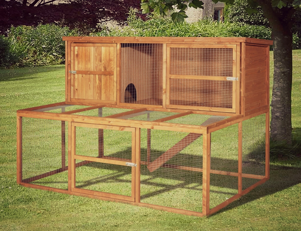 Home and roost extra large rabbit hutch and run luxury for What is a rabbit hutch