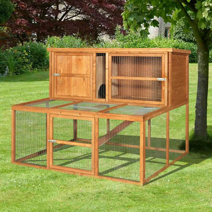 Home and roost 5ft kendal luxury rabbit hutch and run combo for 5 foot rabbit hutch