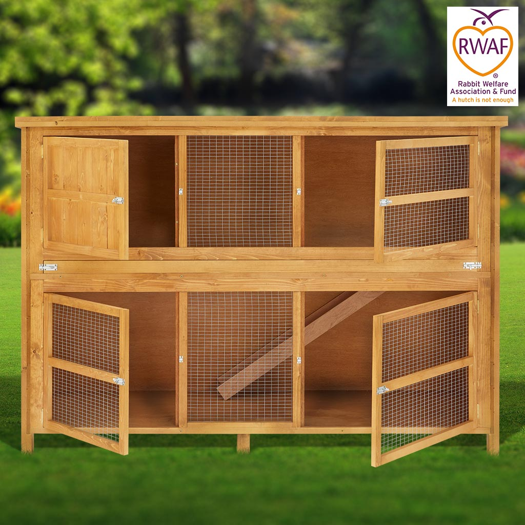 Home and roost 6ft chartwell double luxury rabbit hutch for 5 foot rabbit hutch